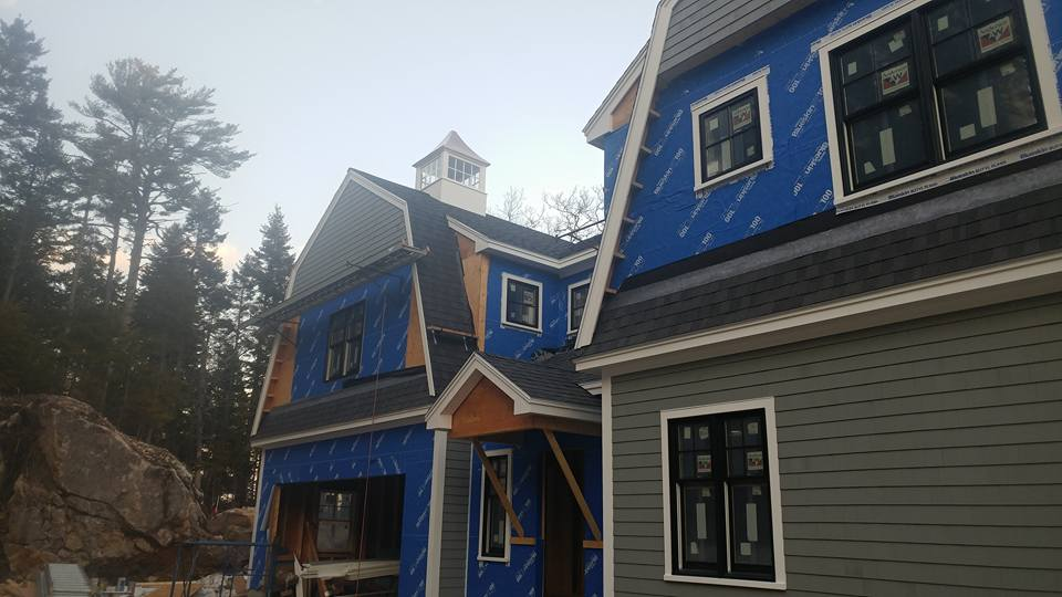 Vinyl Shingle siding project Georgetown Maine